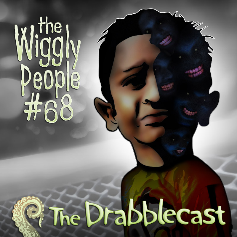Cover for Drabblecast episode 68, The Wiggly People, by Bo Kaier