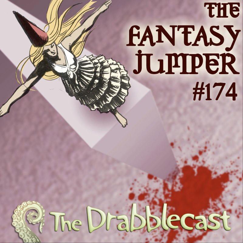 Cover for Drabblecast episode 174, The Fantasy Jumper, by Elan Trinidad