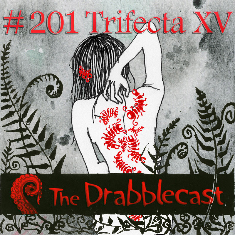 Cover for Drabblecast episode 201, Trifecta XV, by Alyssa Suzumura