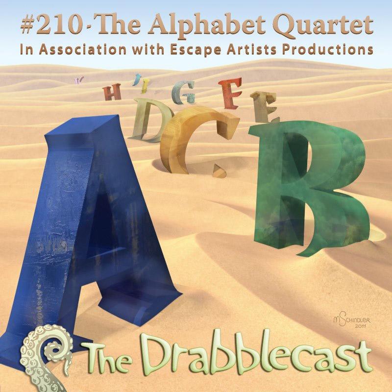 Cover for Drabblecast episode 210, The Alphabet Quartet, by Matt Schindler