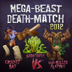 Mega Beast Death Match 2012 round 2 Cover, art Bo Kaier