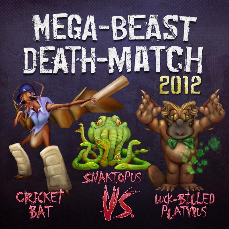 Mega Beast Death Match 2012 round 2 Cover, art Bo Kaier