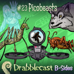 Cover for Drabblecast B-Sides episode 23, Picobeasts, by Jonathan Sims