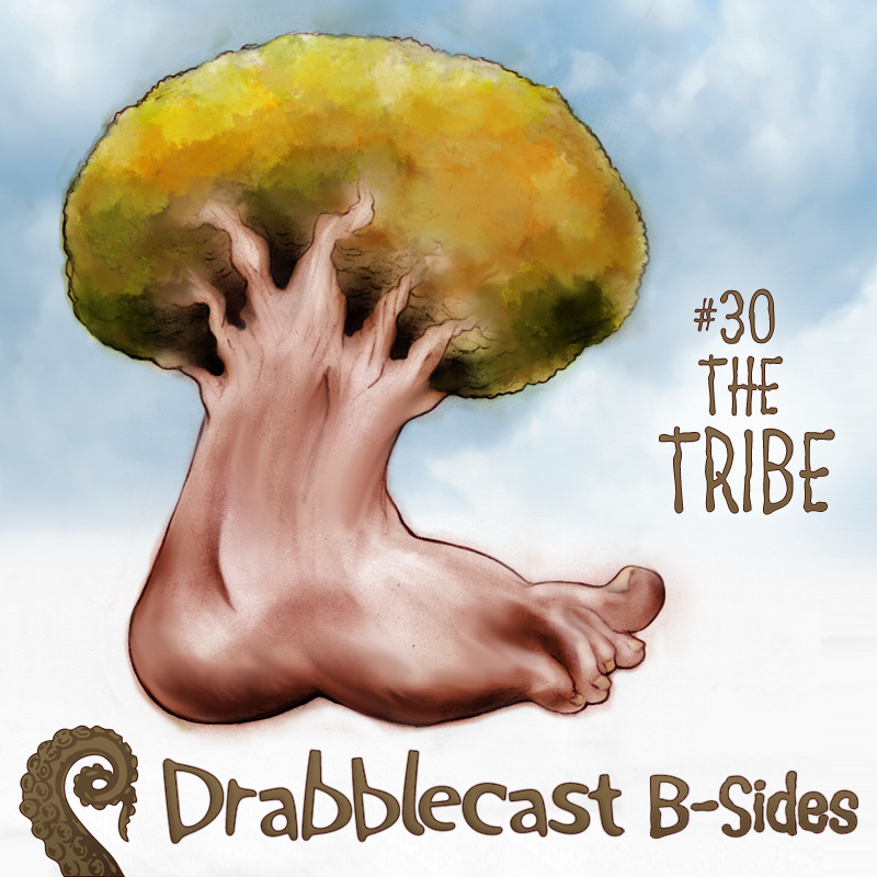 Cover for Drabblecast B-Sides episode 30, The Tribe, by Bo Kaier