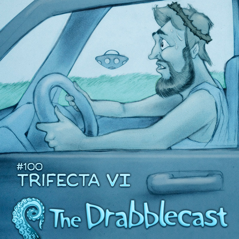 Cover for Drabblecast 100, Trifecta VI, by Bo Kaier