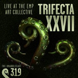 Cover for Drabblecast 319, Trifecta XXVII, by Mackenzie Martin