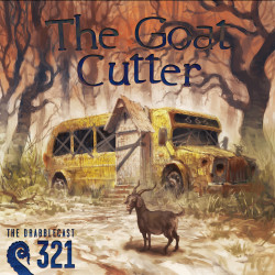 Cover for Drabblecast episode 321, The Goat Cutter, by Rafal Hrynkiewicz