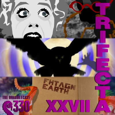 Cover for Drabblecast episode 330. Trifecta XVIII, by Forrest Warner