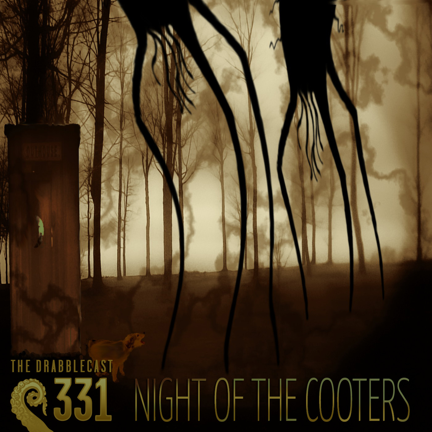Cover for Drabblecast 331, Night of the Cooters, by Raoul Izzard
