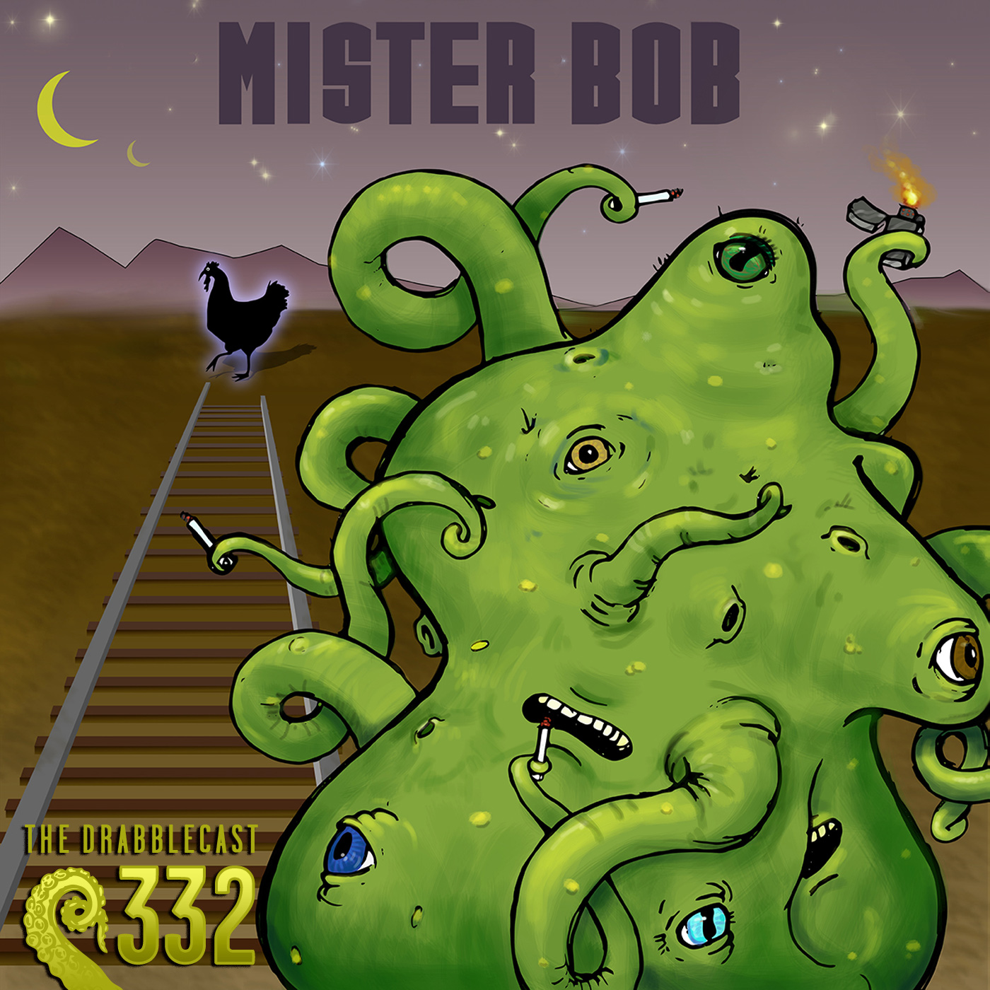 Cover for Drabblecast 332, Mr. Bob, by David Krummenacher