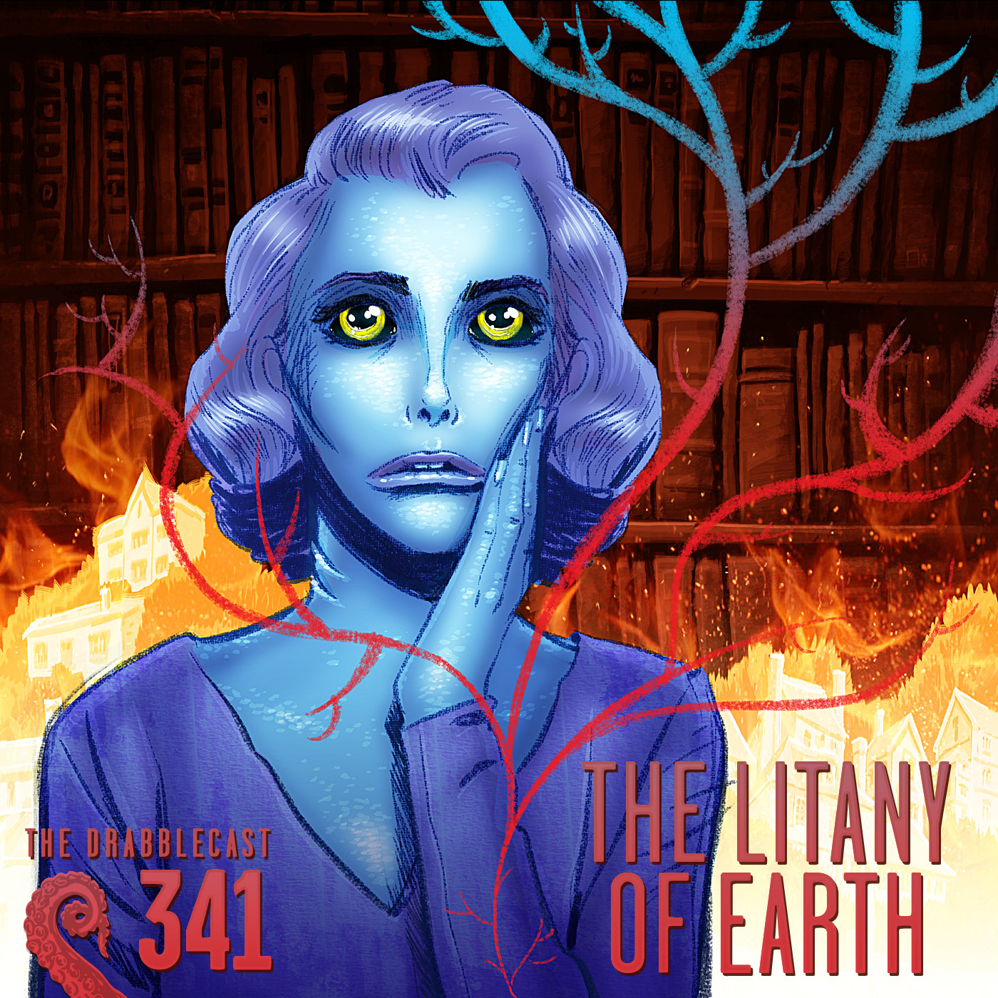 Cover for Drabblecast episode 341, The Litany of Earth, by Bill Halliar
