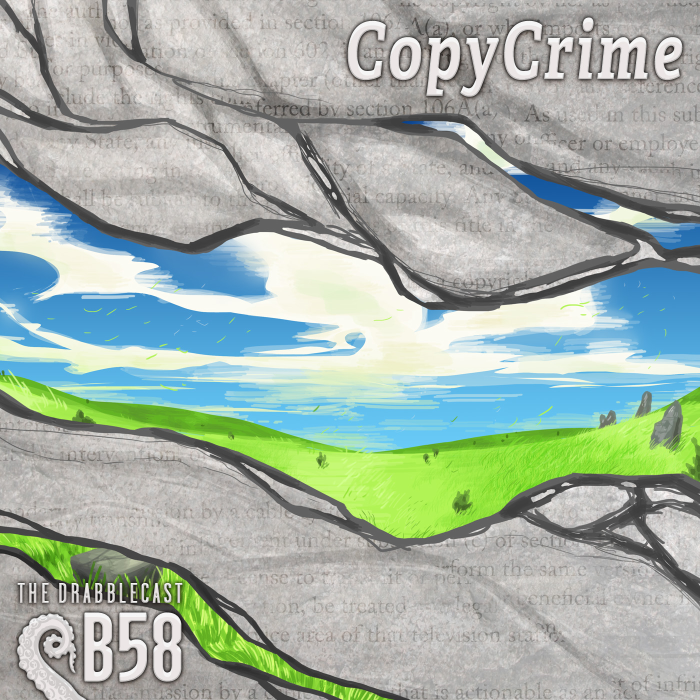Cover for Drabblecast B-Sides episode 58, CopyCrime, by E.C. Ibes