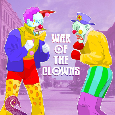 Cover for Drabblecast B-Sides 62, War of the Clowns, by Bo Kaier