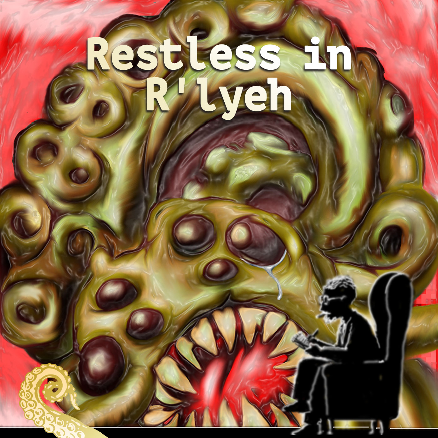 Drabblecast cover for Restless in R'lyeh by Greg Cravens