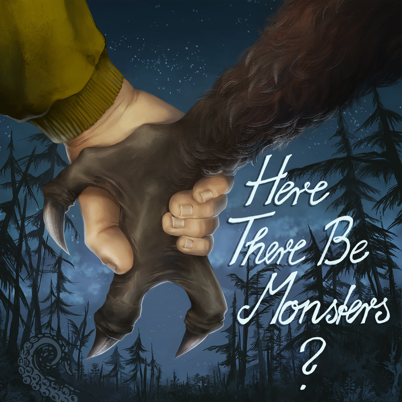 Cover for Here There Be Monsters? by Christiane Ebrecht