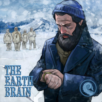 The Earth-Brain Drabblecast cover by Bo Kaier