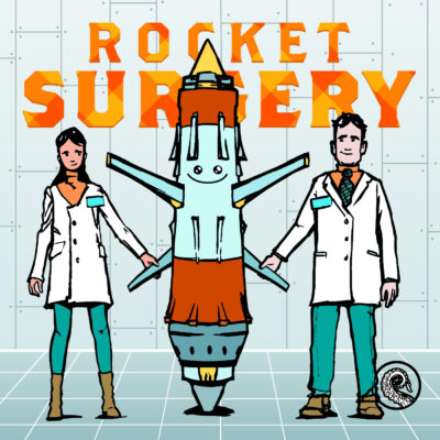 Cover for Drabblecast episode Rocket Surgery by Bo Kaier