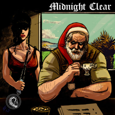Drabblecast cover for TIm Pratt's Midnight Clear by Łukasz Godlewski
