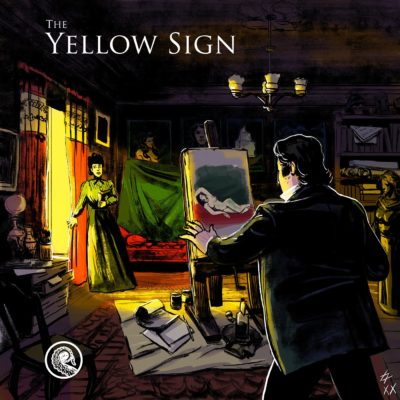 The Yellow Sign cover for Drabblecast by Łukasz Godlewski