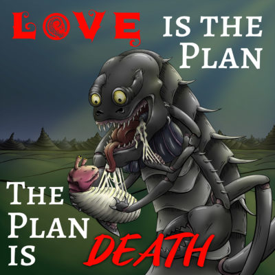 Anike Kirsten cover for Drabblecast Love Is The Plan The Plan Is Death